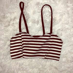 Black & White Stripe Crop Top